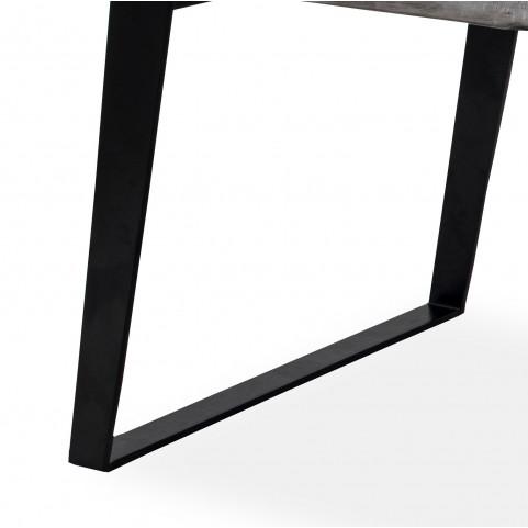 Стол лофт из массива большой, ДЖИВАН platinum black, 2 метра